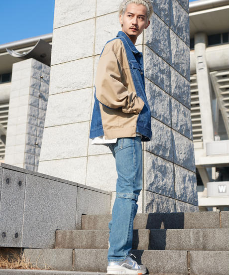 【2021.2.11(thr)21:00-PRE‐ORDER】COMBINATION DENIM JACKET(INDIGO)