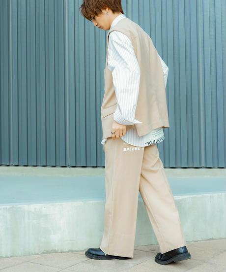 【2021.5.15(sat)21:00-PRE-ORDER】MY WAY FAICING HEM  PANTS(BEIGE)