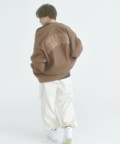 【10.30(fri)21:00-PRE ORDER】BIG LOGO STADIUM JUMPER(Brown)