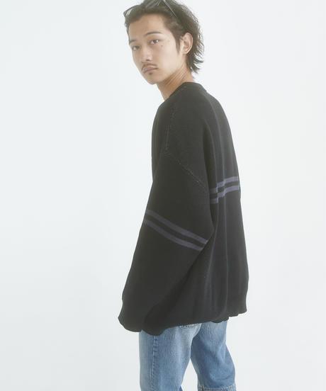 【STOCK】Double  Jacquard IVY knit(Black)