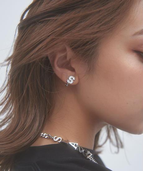 S-logo pierce /earring(Silver)