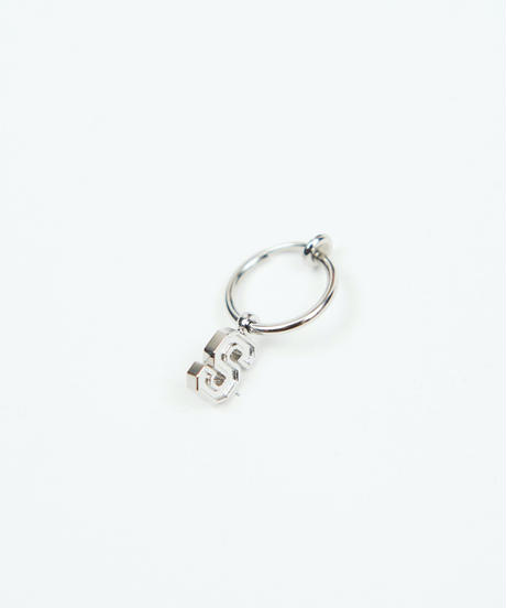 【9.29(tue)21:00-ORDER】S-logo hoop earring (Silver)