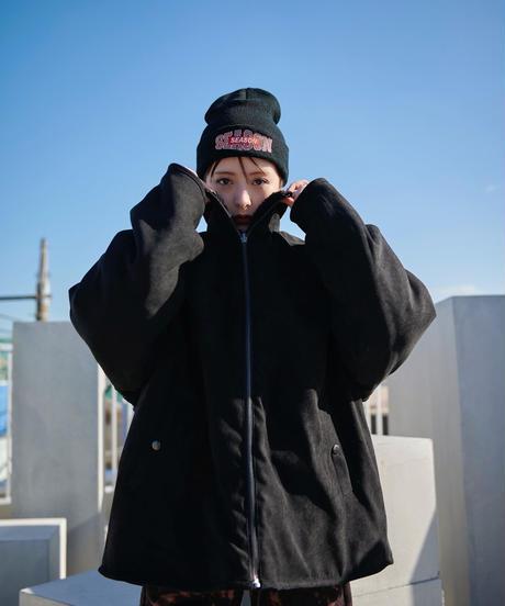 【2020.12.6(sun)21:00‐ORDER】LOGO KNIT CAP  (BLACK)