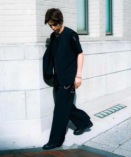 【2021.5.15(sat)21:00-PRE-ORDER】MY WAY FAICING HEM  PANTS(BLACK)