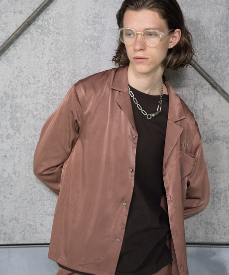 【入荷】SET UP Open collar SH(Brown)