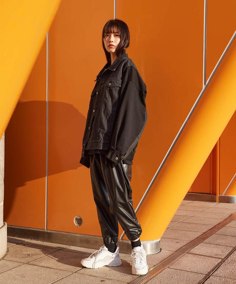 【2021.2.23(tue)21:00-PRE-ORDER】SYNTHETIC LEATHER SIDE MESH PANTS