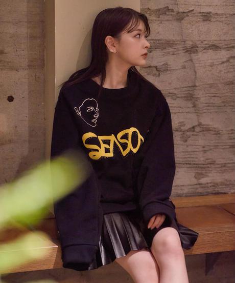 "【2021.3.6(sat)21:00-PRE-ORDER】HAZUKI×SEASON  COLAB ""ART"" SWEAT(Black)"