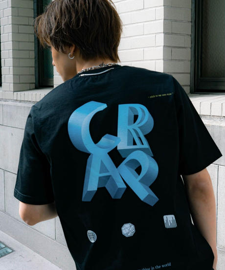 【2021.5.28(Fri)21:00‐PRE-ORDER】CLAP× CRAP TEE(BLACK)