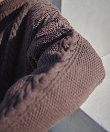 【STOCK】Re-eddition Cable knit(Brown)