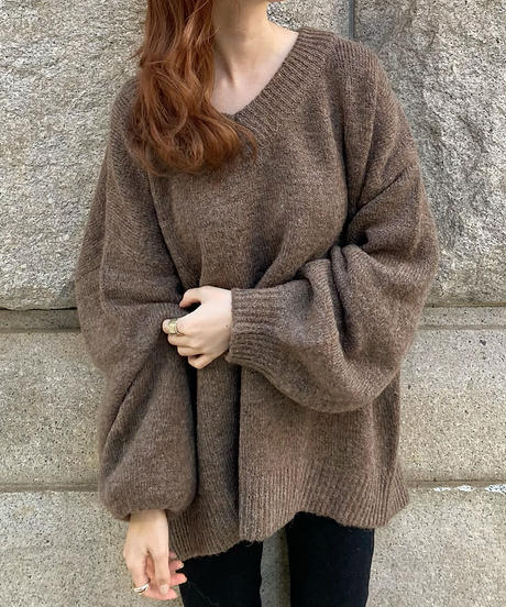 〈予約/12月中旬発送〉v  neck over knit