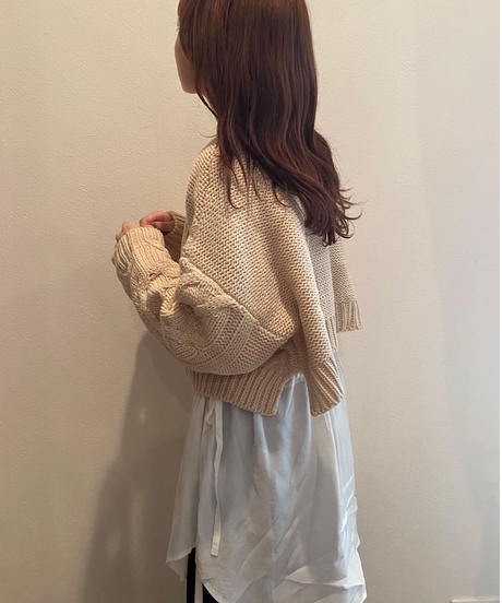 cable short knit