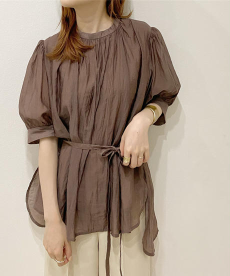 sheer gather blouse
