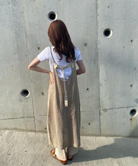 〈予約/5月下旬〉backbelt mesh cami one-piece