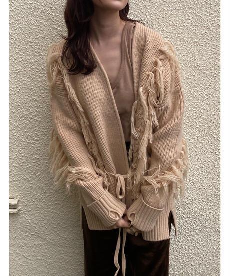 fringe knit cardigan