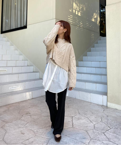 waist gather blouse