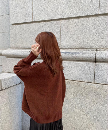 high  neck knit