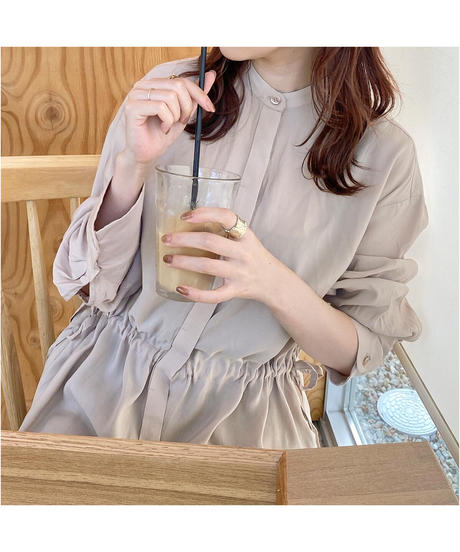 waist gather blouse