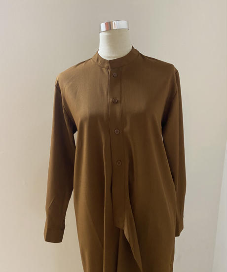 asymmetry shirt one-piece