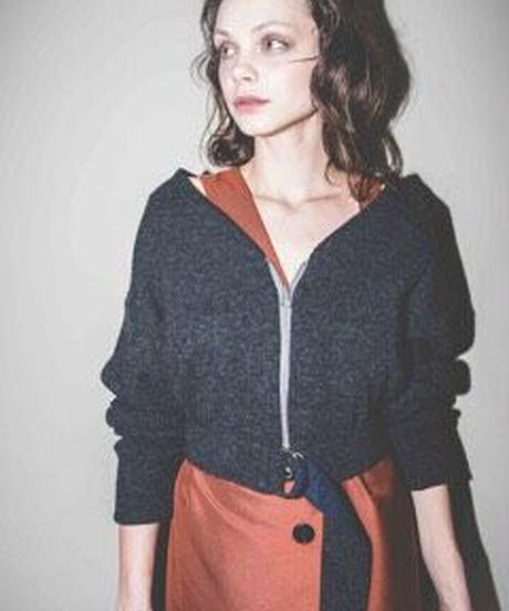 〈select〉belt knit cardigan