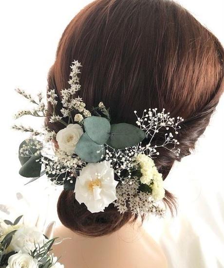 【ヘッドドレス/髪飾りプリザーブドフラワー/ウェディング・前撮り和装】