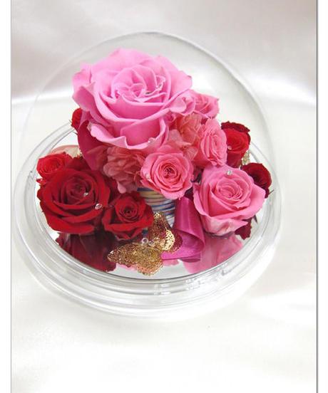 【プリザーブドフラワー/オルゴールシリーズ】ピンクの薔薇が伝える、王妃マリー・アントワネットのドラマティックな運命の予感