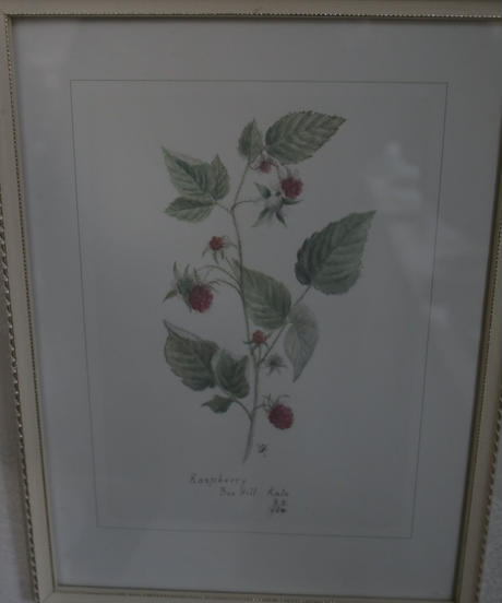 "VTG wall art frame ""Raspberry"""