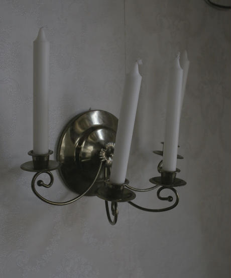 VTG wall candle holder 4 pronged