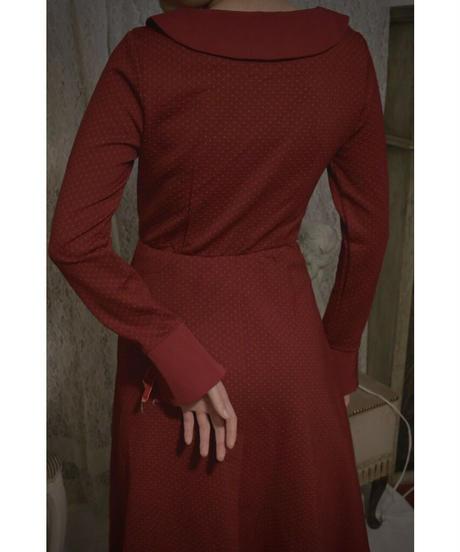 VTG winered round collar dress