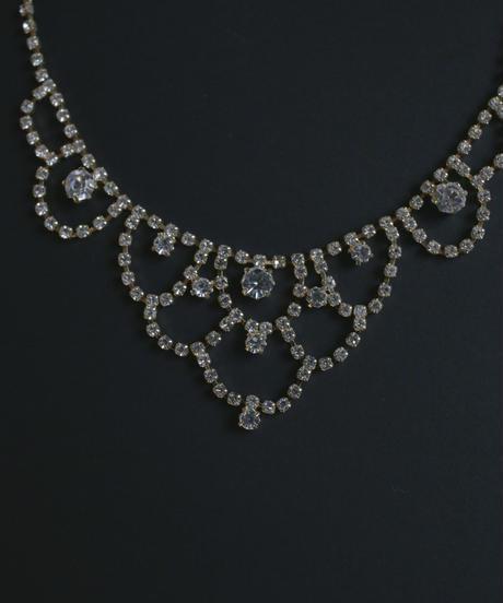 gold crystal bijou necklace