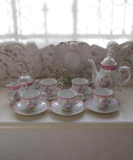VTG aurora pink tea pot