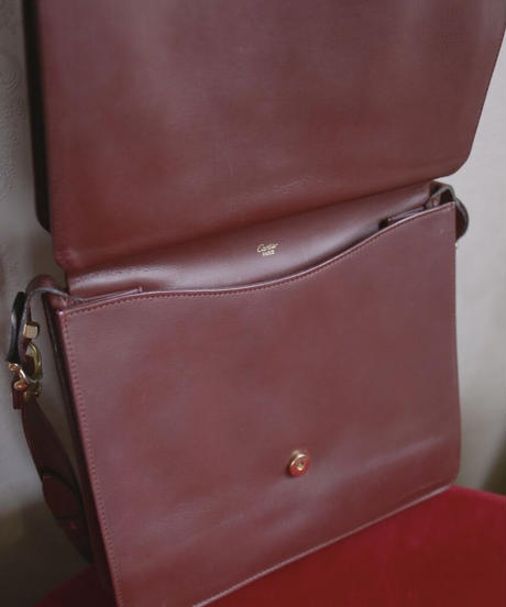 Cartier flap shoulder bag
