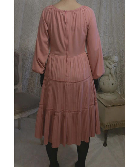 VTG pink tiered one piece