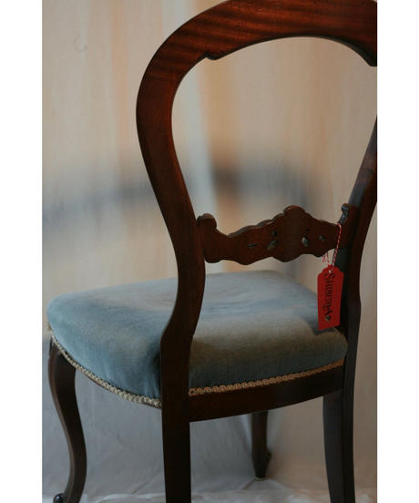 french antique velvet chair