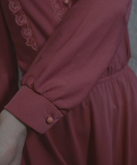 VTG 70s classic pink one piece