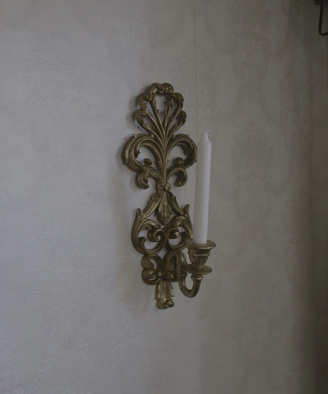 VTG wall candle holder rococo motif