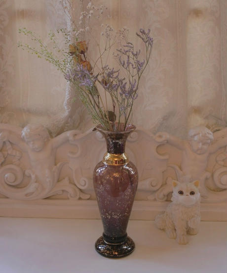 VTG purple glass vase