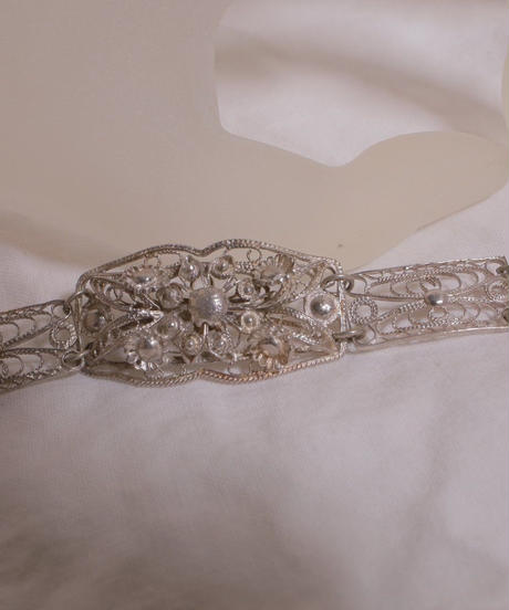 antique silver 925 ornament bracelet