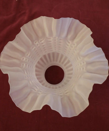 VTG milk glass shade lamp