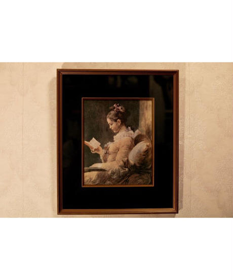 Young Girl Reading ART frame