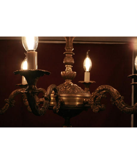 french antique 6p chandelier