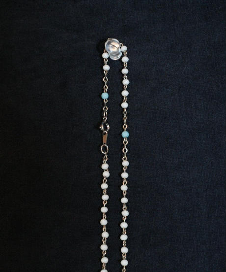 blue&white beads rosary
