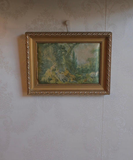 french fabric art frame
