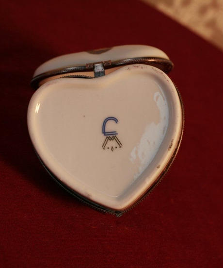 porcelain jewerly box heart