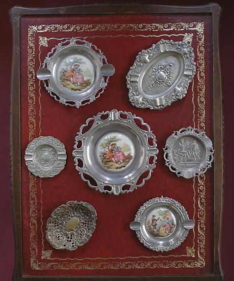 vintage metal plate tray 5