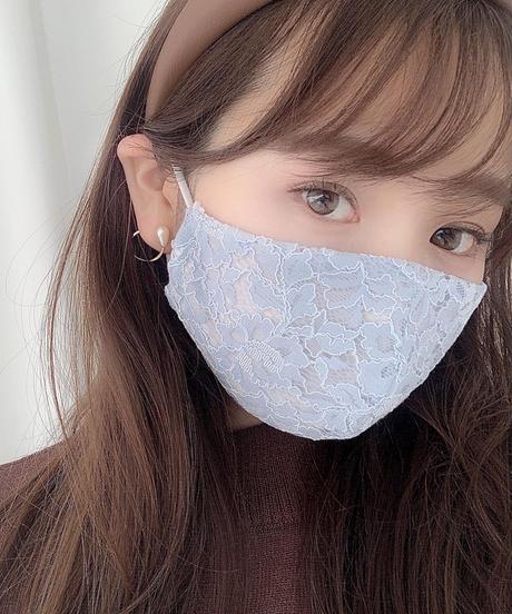 【再販】フラワーラッセルレースマスク
