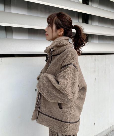 【受注販売】ボアフライトジャケット モカ