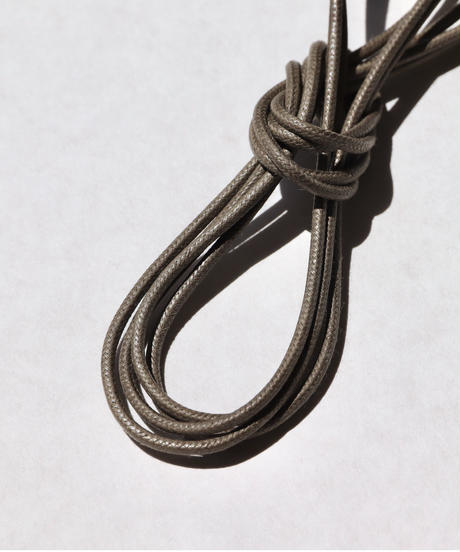 Olive Shoelaces with Agret /●紐先金具込み/ オリーブ / ロウ引き丸紐/ 長さ指定可