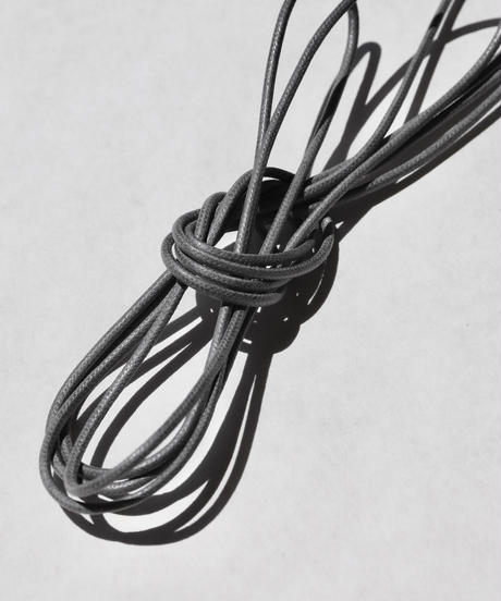 Medium Gray Shoelaces with Agret /●紐先金具込み/ ミディアムグレー / ロウ引き丸紐/ 長さ指定可