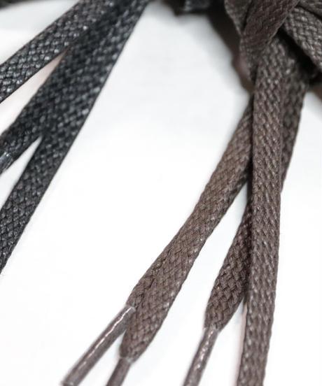 Black Flat Lace / 黒 / 平紐 / ロウ引き / 5mm幅 シューレース