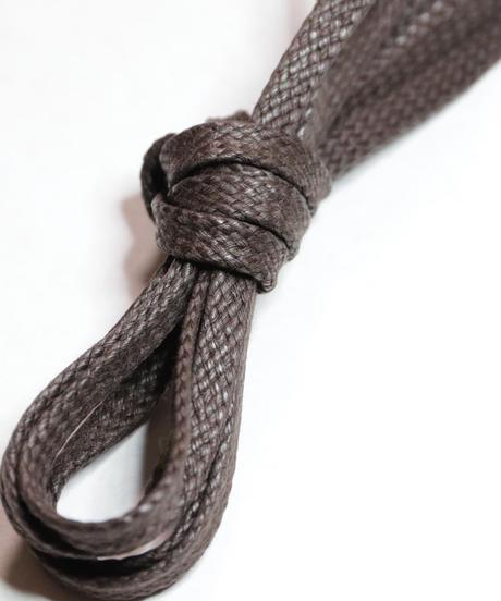 Dark Brown Flat Lace / 焦茶 / 平紐 / ロウ引き / 5mm幅 シューレース